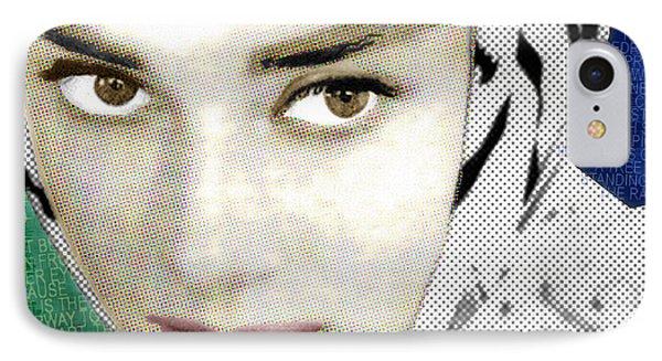 Audrey Hepburn Phone Case by Tony Rubino