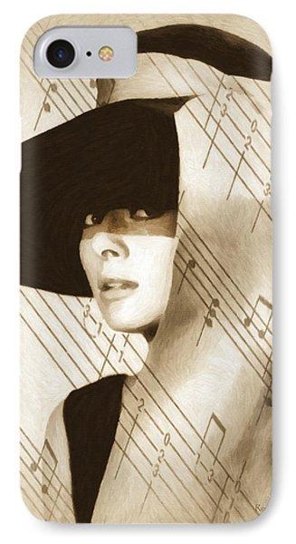 Audrey Hepburn Vintage IPhone Case by Georgiana Romanovna