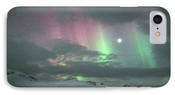 Aurora Borealis And Jupiter IPhone Case by Tommy Eliassen