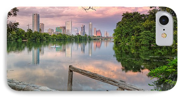 Austin Skyline From Lou Neff Point IPhone Case by Silvio Ligutti