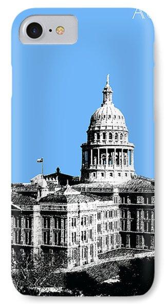 Austin Texas Capital - Sky Blue IPhone Case by DB Artist