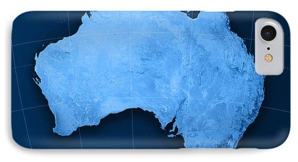 Australia Topographic Map Phone Case by Frank Ramspott