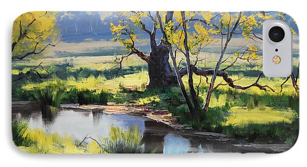 Australian River Painting Phone Case by Graham Gercken