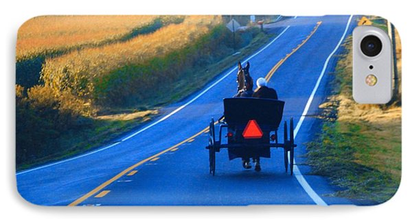 Autumn Amish Buggy Ride IPhone Case by Dan Sproul