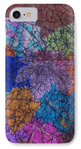 Autumn Batik IPhone Case by Ellen Levinson