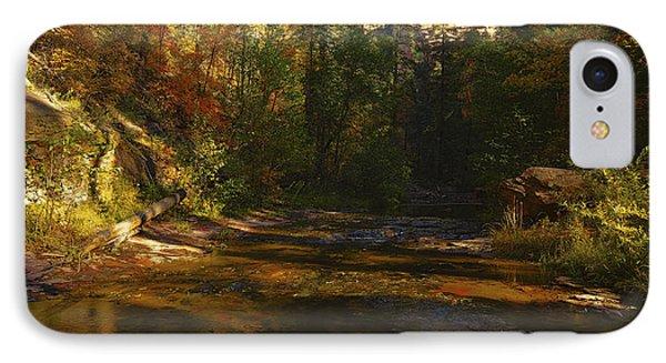 Autumn Colors By The Creek  IPhone Case by Saija  Lehtonen