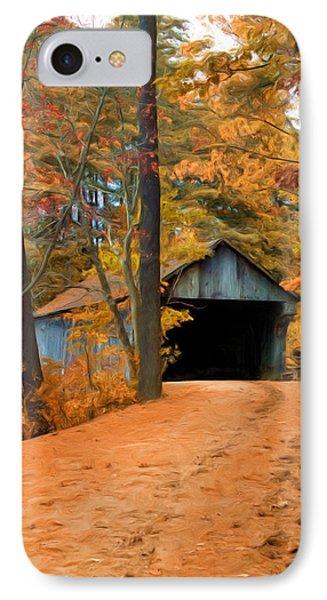 Autumn Covered Bridge IPhone Case by Joann Vitali