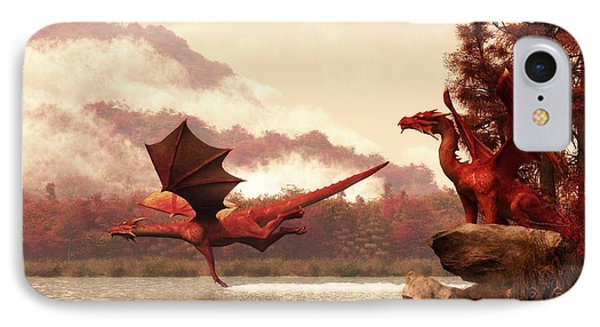 Autumn Dragons IPhone Case by Daniel Eskridge