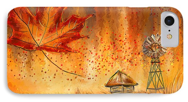 Autumn Dreams- Autumn Impressionism Paintings IPhone Case by Lourry Legarde