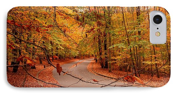 Autumn In Holmdel Park Phone Case by Angie Tirado