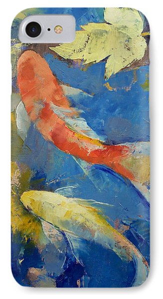 Autumn Koi Garden IPhone Case by Michael Creese
