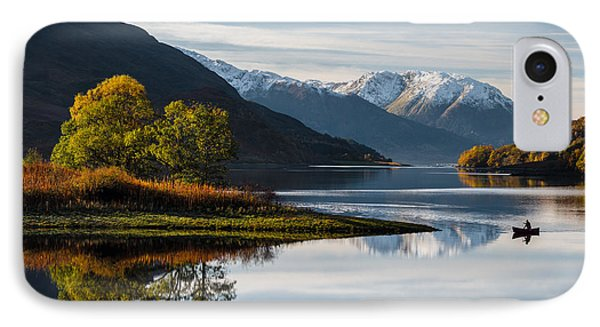 Autumn On Loch Leven IPhone Case by Dave Bowman