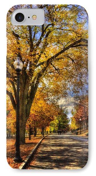 Autumn Path - Boston Public Garden IPhone Case by Joann Vitali