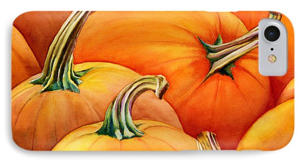 Autumn Pumpkins IPhone Case by Hailey E Herrera