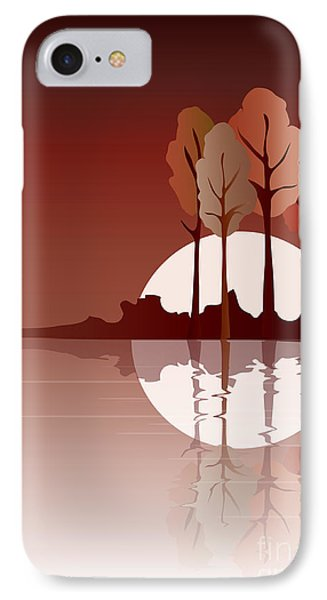 Autumn Reflected IPhone Case by Jane Rix