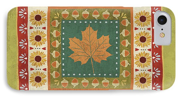 Autumn Song Tiles II IPhone Case by Veronique Charron