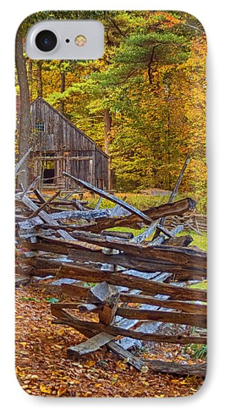 Autumn Wooden Fence IPhone Case by Joann Vitali