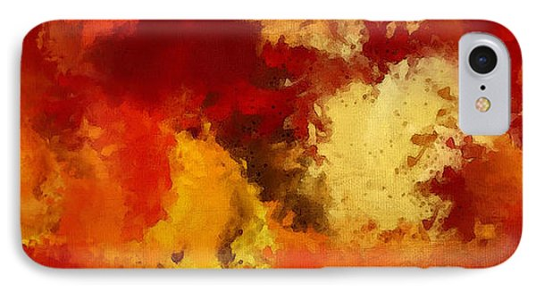 Autumn's Abstract Beauty IPhone Case by Lourry Legarde