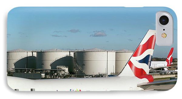 Aviation Fuel Tanks IPhone Case by Daniel Sambraus