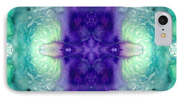 Awakening Spirit - Pattern Art By Sharon Cummings IPhone Case by Sharon Cummings