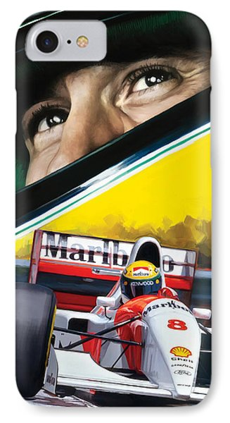 Ayrton Senna Artwork IPhone Case by Sheraz A