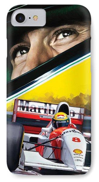 Ayrton Senna Artwork IPhone Case by Sheraz A