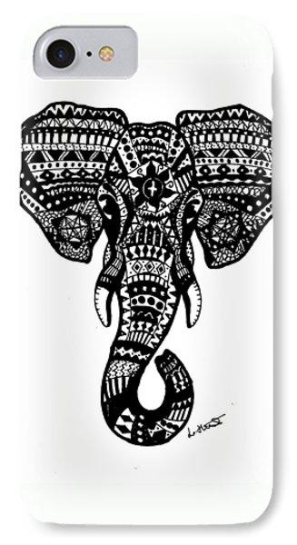 Aztec Elephant Head IPhone 7 Case by Loren Hill