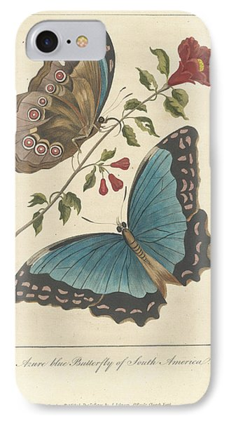 Azure Blue IPhone Case by British Library