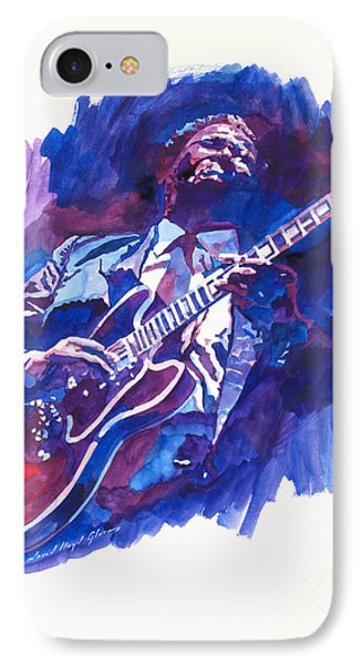 B. B. King Blue IPhone Case by David Lloyd Glover