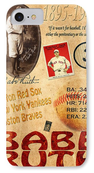 Babe Ruth IPhone Case by Andrew Fare