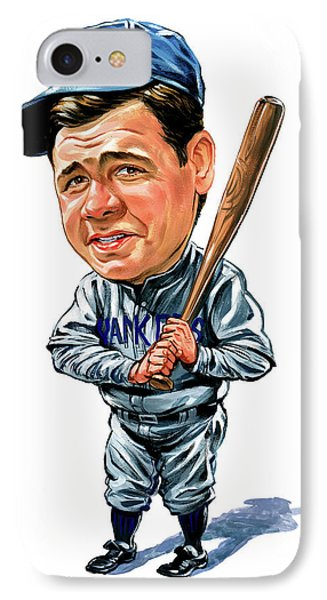 Babe Ruth IPhone 7 Case by Art