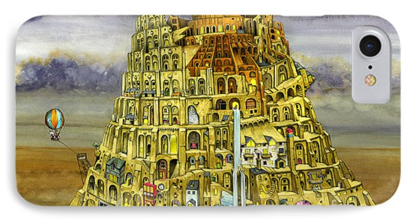 Babel IPhone Case by Colin Thompson