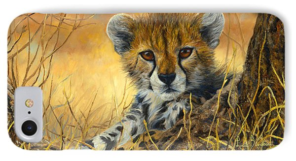 Baby Cheetah  IPhone 7 Case by Lucie Bilodeau
