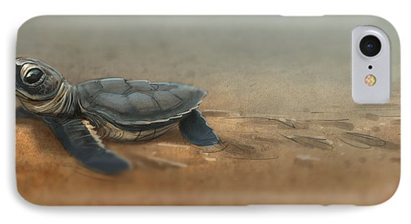 Baby Turtle IPhone 7 Case by Aaron Blaise