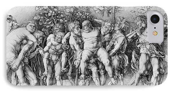 Bacchanal With Silenus - Albrecht Durer IPhone Case by Daniel Hagerman