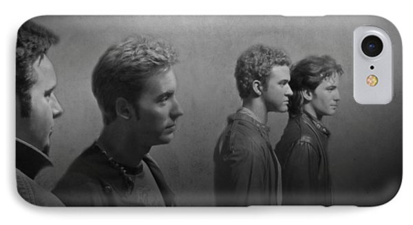 Back Stage With Nsync Bw Phone Case by David Dehner