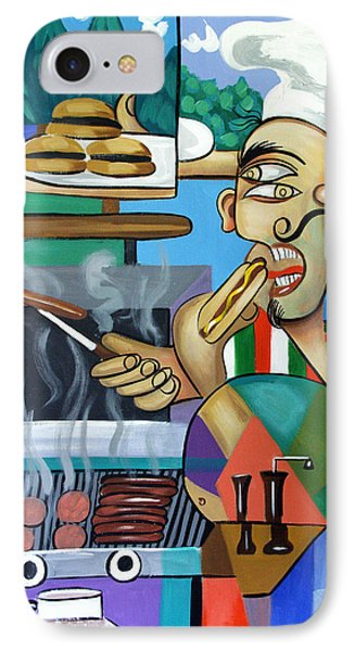 Backyard Chef IPhone Case by Anthony Falbo