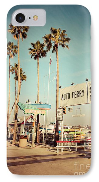 Balboa Island Ferry Nostalgic Vintage Picture IPhone Case by Paul Velgos