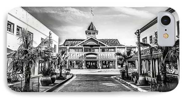 Balboa Pavilion Newport Beach Black And White Picture Phone Case by Paul Velgos