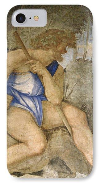 Baldassare Peruzzi 1481-1536. Italian Architect And Painter. Villa Farnesina. Polyphemus. Rome IPhone 7 Case by Baldassarre Peruzzi