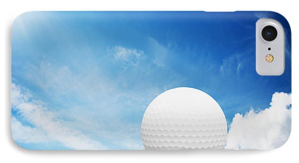 Ball On Tee On Green Golf Field IPhone Case by Michal Bednarek