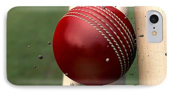 Ball Striking Wickets IPhone Case by Allan Swart