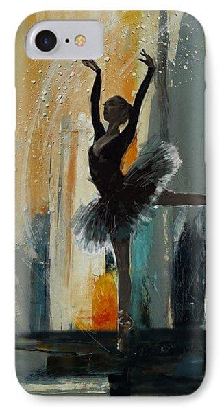 Ballerina 17 IPhone Case by Mahnoor Shah