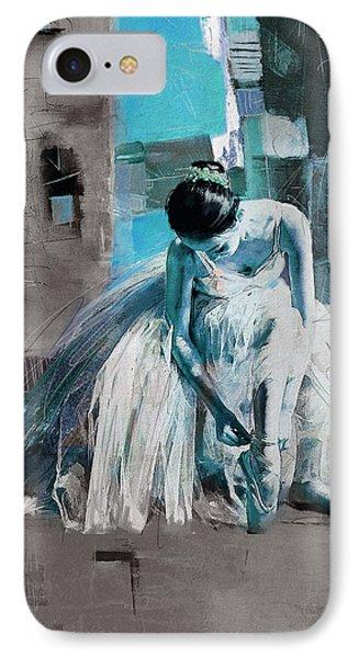 Ballerina 21 IPhone Case by Mahnoor Shah