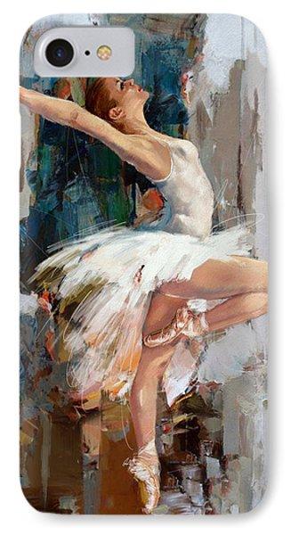 Ballerina 22 IPhone Case by Mahnoor Shah