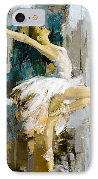 Ballerina 23 IPhone Case by Mahnoor Shah