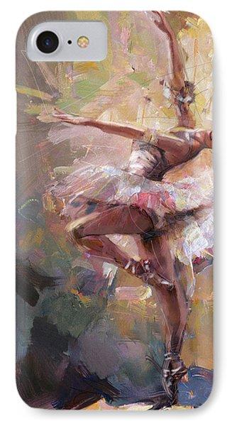 Ballerina 40 IPhone Case by Mahnoor Shah