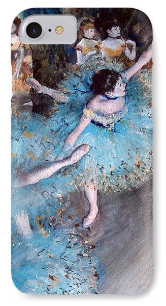 Ballerina On Pointe  IPhone Case by Edgar Degas