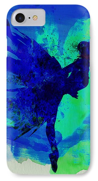 Ballerina On Stage Watercolor 2 IPhone Case by Naxart Studio