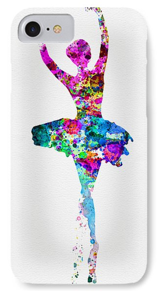 Ballerina Watercolor 1 IPhone Case by Naxart Studio